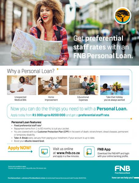 Print - internal magazine advert for FNB